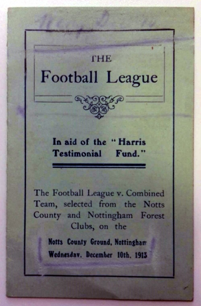 TE Harris Testimonial Player Schedule 1913