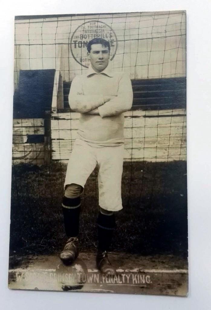 Walter Scott Grimsby Town FC Postcard
