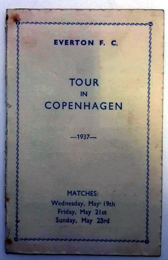 Everton Tour of Copenhagen Itinerary 1937