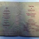 Signed Arsenal Celebration Dinner Menu December 1930 Inner