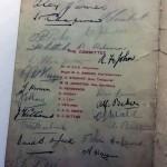 Signed Arsenal Celebration Dinner Menu December 1930 Signatures