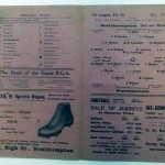 Southampton v Portsmouth March 1922 Programme Inner