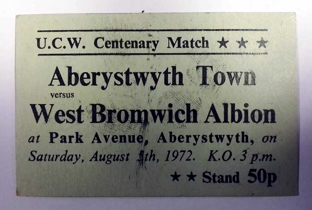 Aberystwyth Town vs West Brom Centenary Match 1972