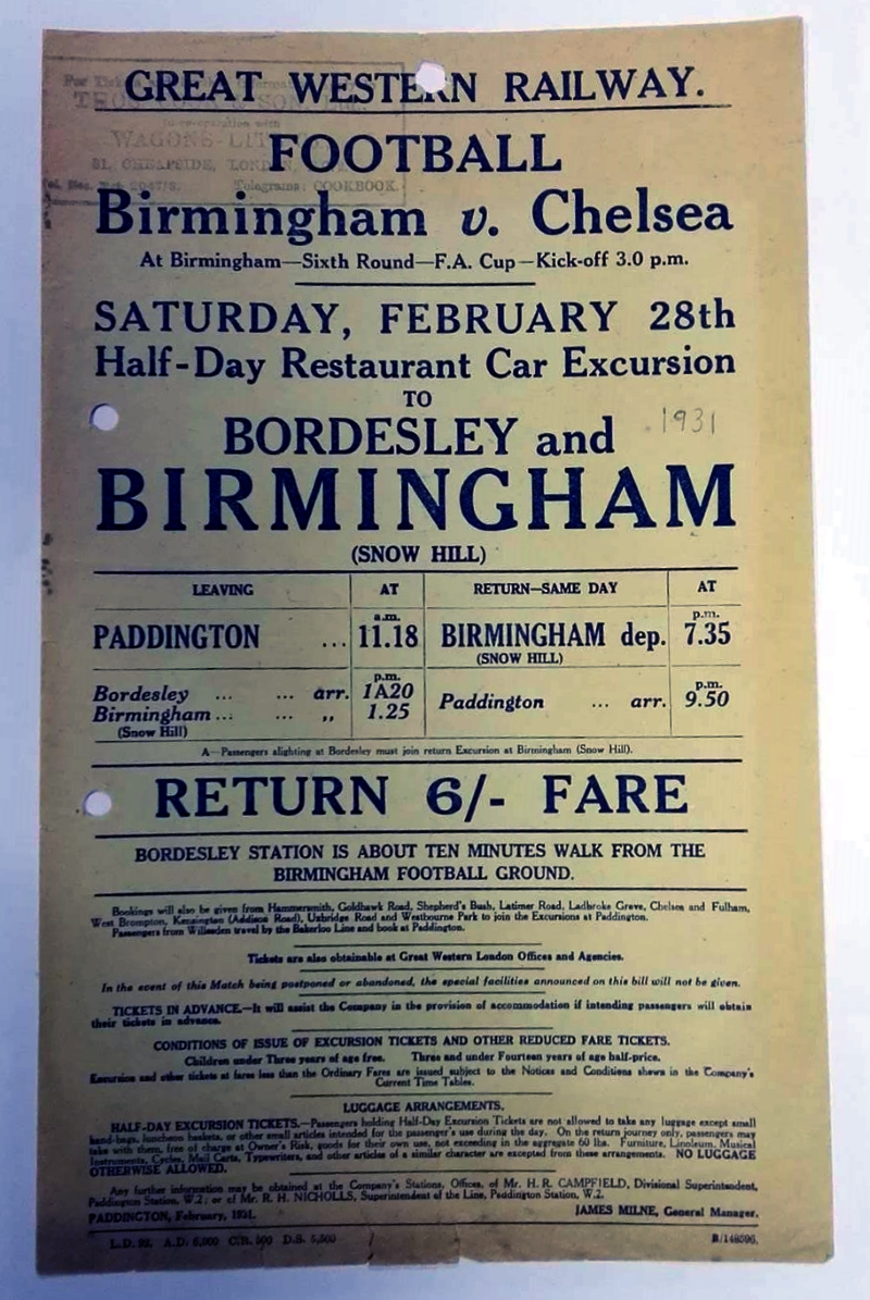 Football railway excursion poster collector