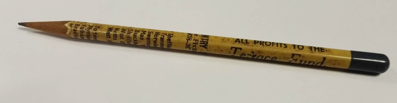 Coventry City FC Pencil 1938/9