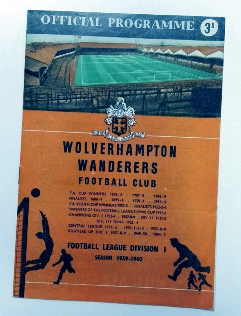 Wolves vs ASK Vorwarts Programme & Signed Menu 1959
