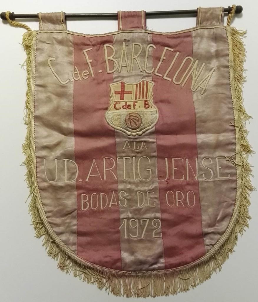 Barcelona vs Union Deportiva Artiguense Handover Pennant 1972