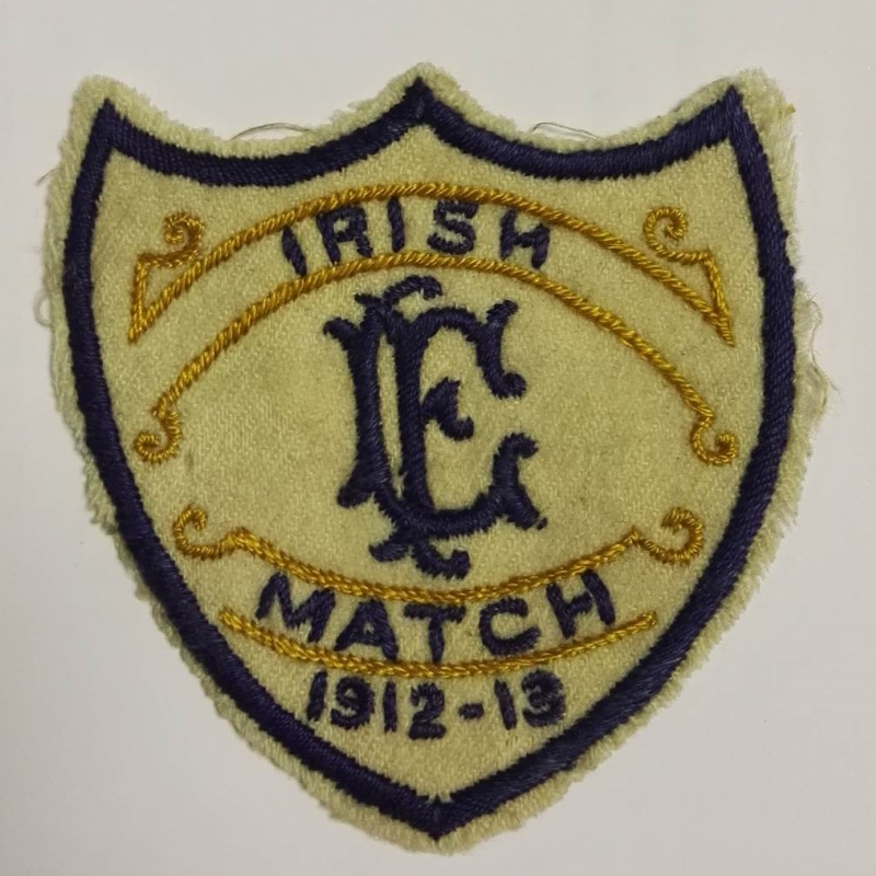 Irish League vs Football League Matchworn Shirt Badge 1912
