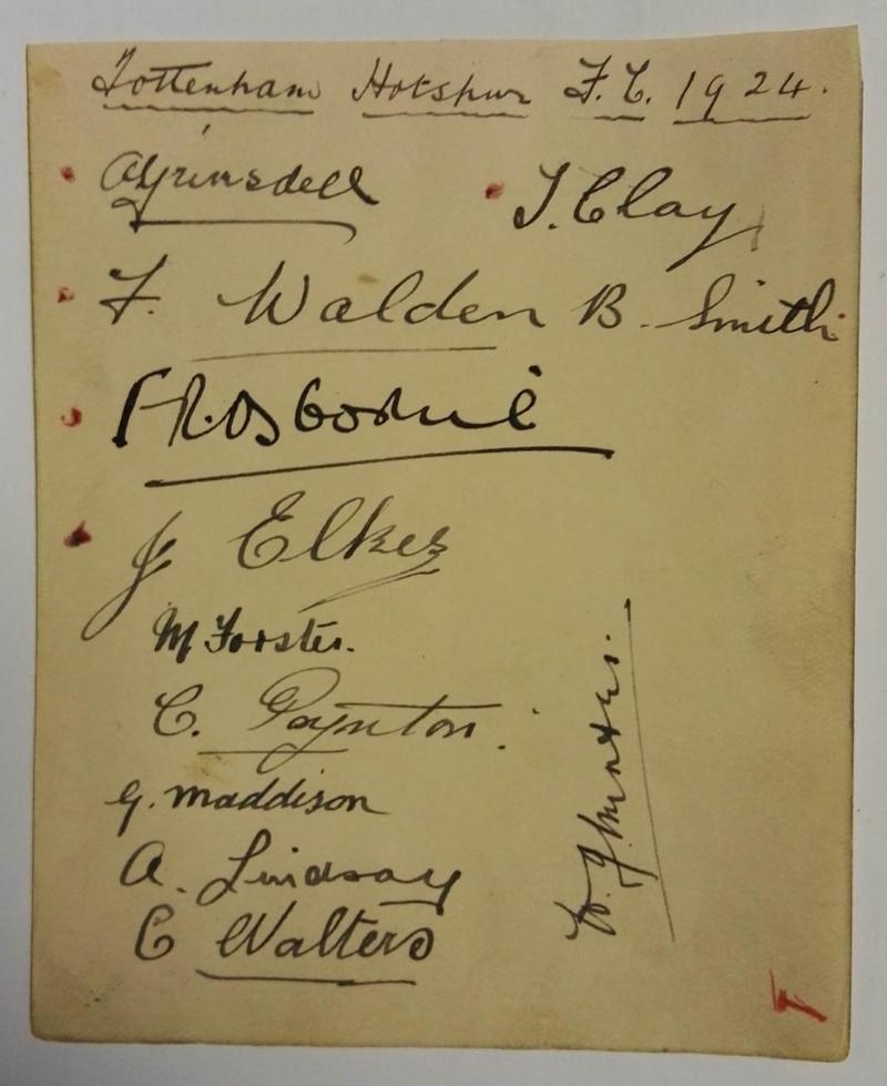 Tottenham Hotspur Autographs 1924