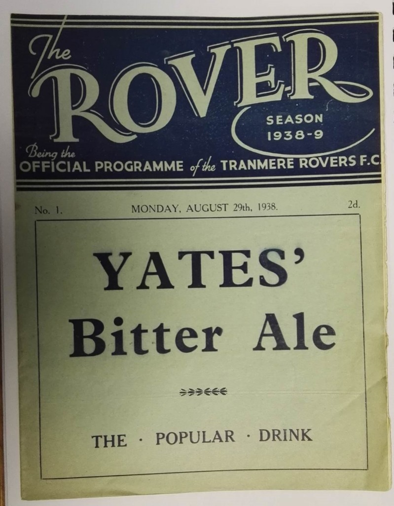 Tranmere Rovers vs Millwall Programme 1938