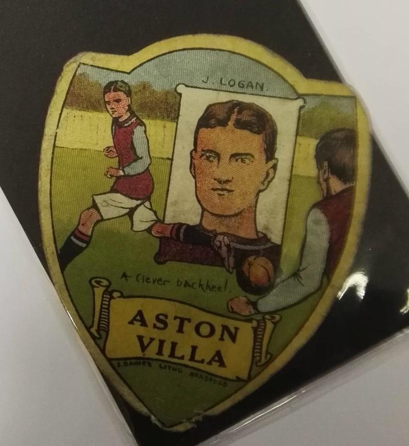 Baines Aston Villa Football Card - James Logan