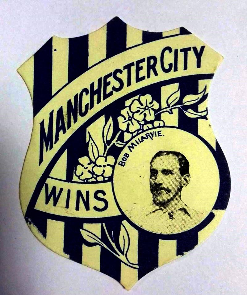 Baines 'Play Up' Man City Football Card