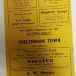 Headington United vs Bolton FA Cup 1954 Programme rear