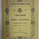Ilford FC Jubilee Celebration Programme 1931 Front