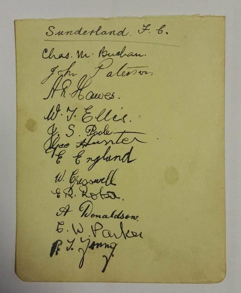 Sunderland FC Autograph Card 1921