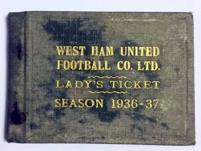 West Ham Lady's Season Ticket 1936/37
