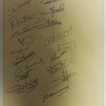 France vs Spain 1958 Signed Menu Rear
