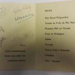 France vs Spain 1958 Signed Menu Signs Inner