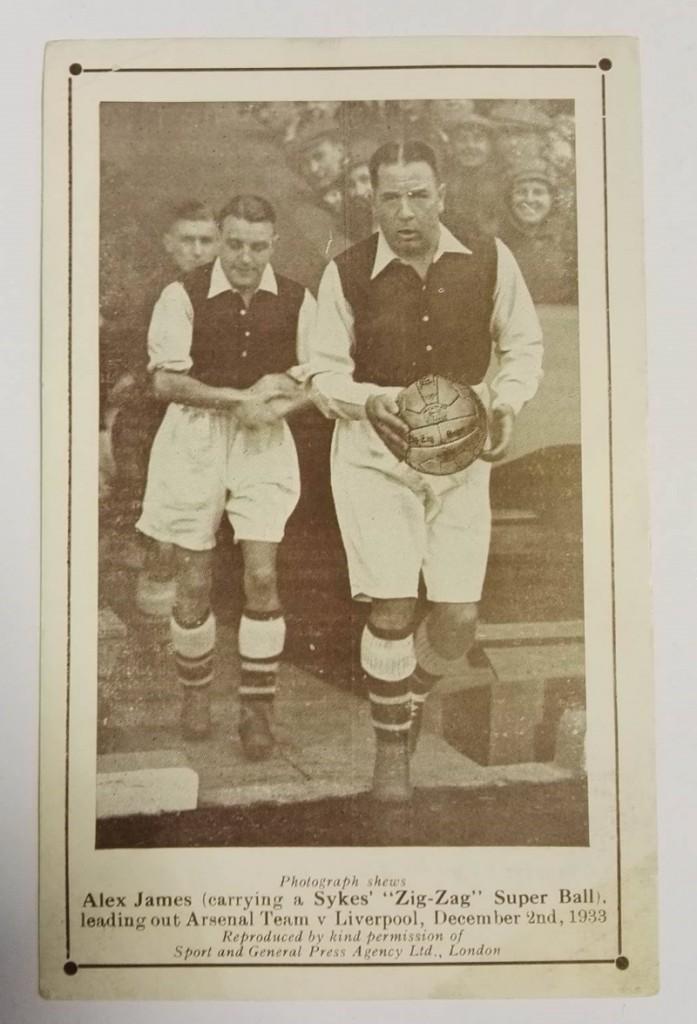 Alex James 'Sykes Football' Postcard 1933