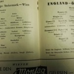 Austria vs England Programme Inner 3 May 1952