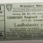 Austria vs England Ticket May 1952