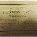 Blackburn Rovers vs Burnley FA Cup Souvenir 1913 RIP Card