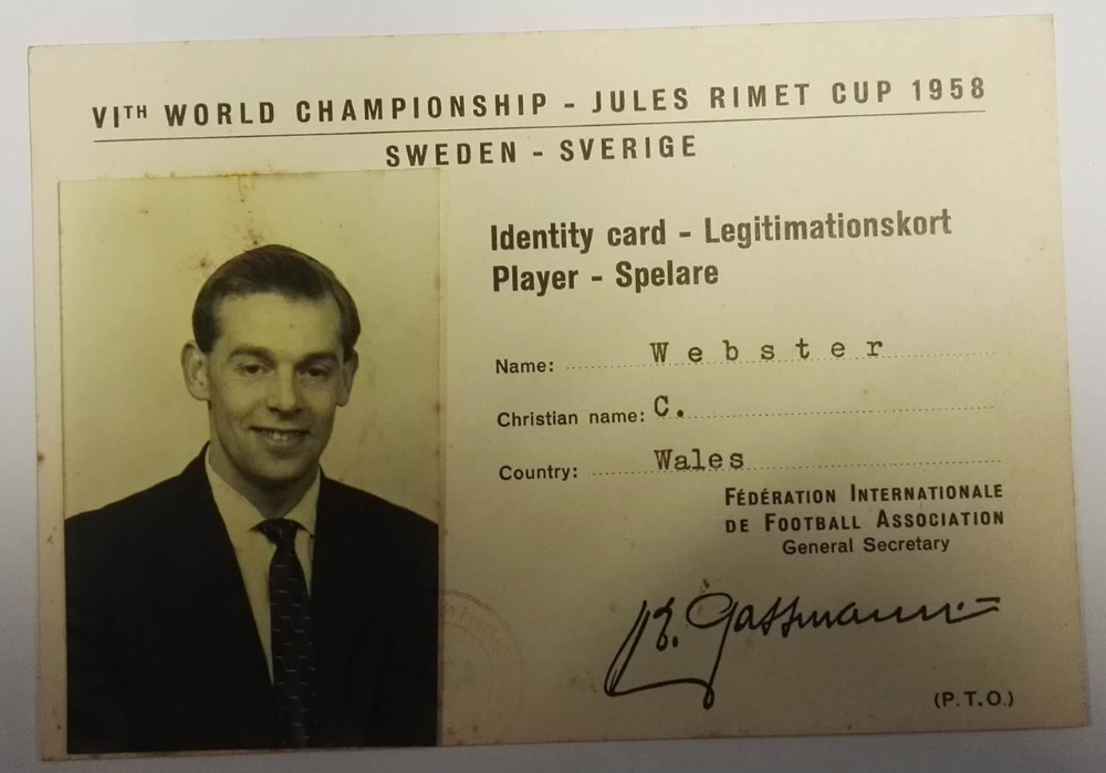 Colin Webster World Cup 1958 Wales Items