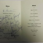 Wales vs East Germany Signed Menu September 1957 German Sigs