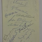 Wales vs East Germany Signed Menu September 1957 Wales Sigs