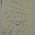 Wales vs East Germany Signed Menu September 1957 Wales Sigs