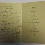 Arsenal Signed Dinner Menu April 1949 Inner