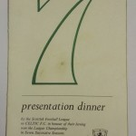 Celtic Presentation Dinner Menu 1972 Signed Front