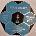Derby County League Winners Dinner Menu 1975 Front