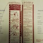 Les Aiglons vs Wolves Souvenir Menu 1933 Middle