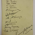 Stoke City vs FC Austria Signed Menu 1934 Rear
