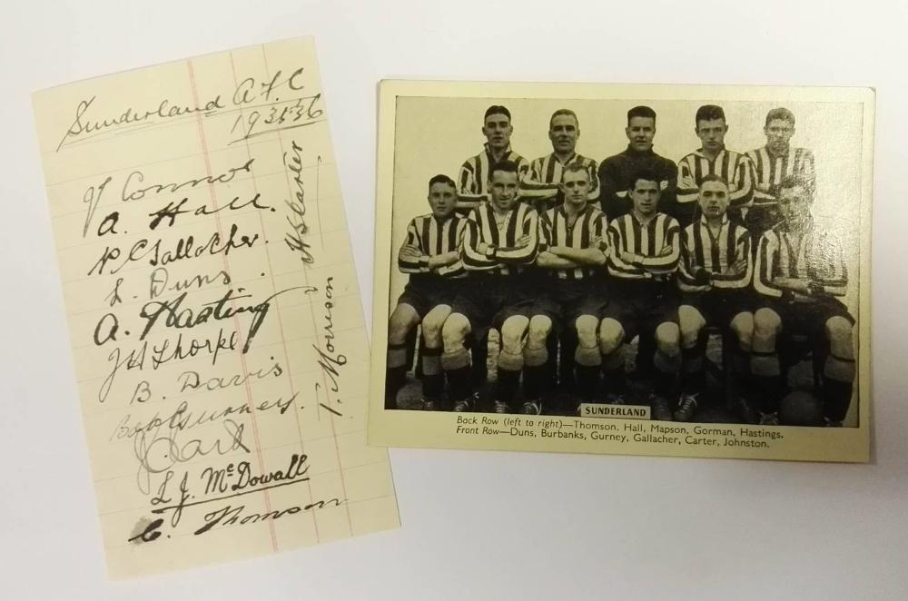 Sunderland AFC Autographs 1935/36