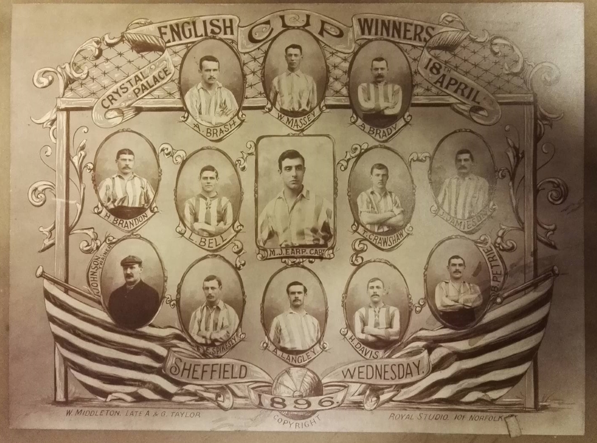 Sheffield Wednesday FA Cup 1896 memorabilia collector