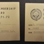 Manchester United PFA Membership Cards 1971-72 - 1