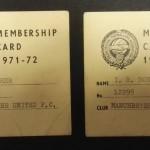 Manchester United PFA Membership Cards 1971-72 - 10
