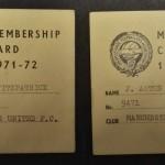 Manchester United PFA Membership Cards 1971-72 - 11