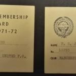 Manchester United PFA Membership Cards 1971-72 - 13