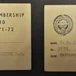 Manchester United PFA Membership Cards 1971-72 - 2