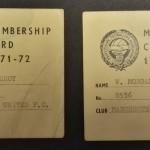 Manchester United PFA Membership Cards 1971-72 - 3