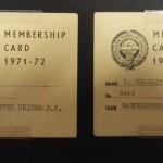 Manchester United PFA Membership Cards 1971-72 - 5