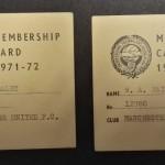 Manchester United PFA Membership Cards 1971-72 - 6