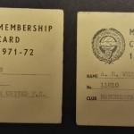 Manchester United PFA Membership Cards 1971-72 - 7