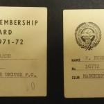 Manchester United PFA Membership Cards 1971-72 - 9