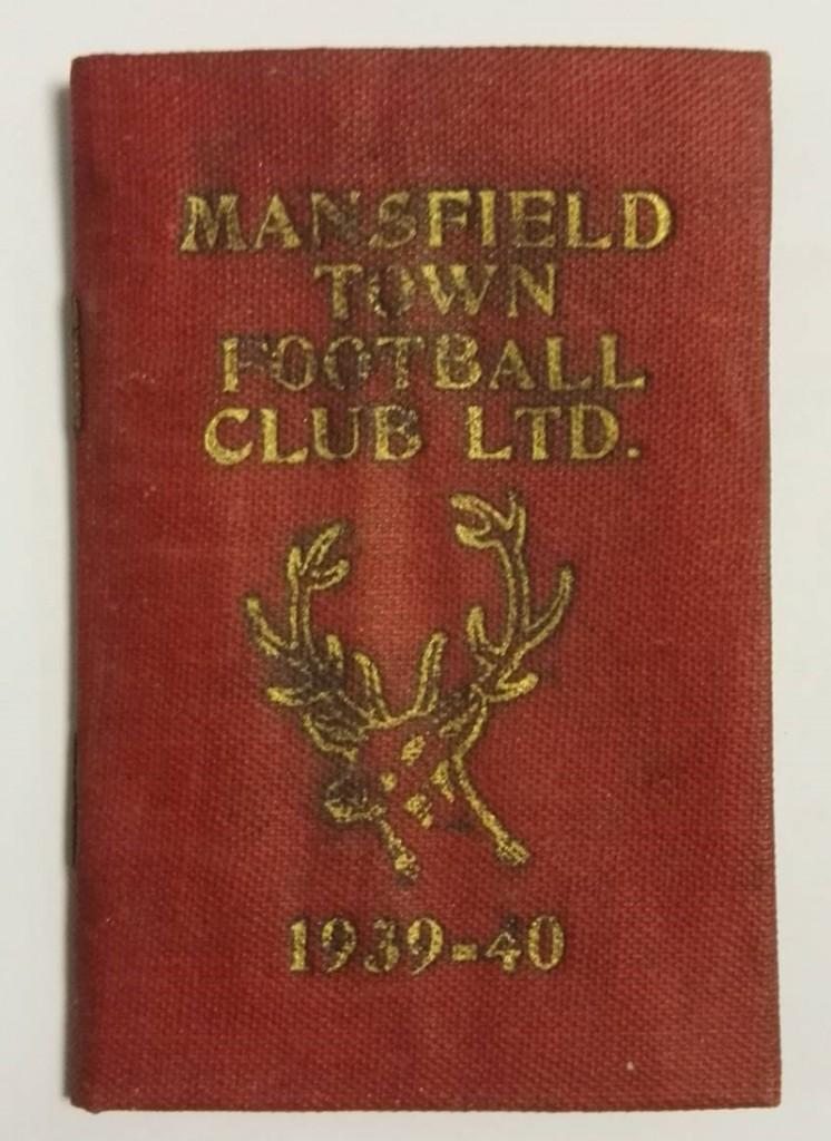 Mansfield Town Season Ticket 1939/40