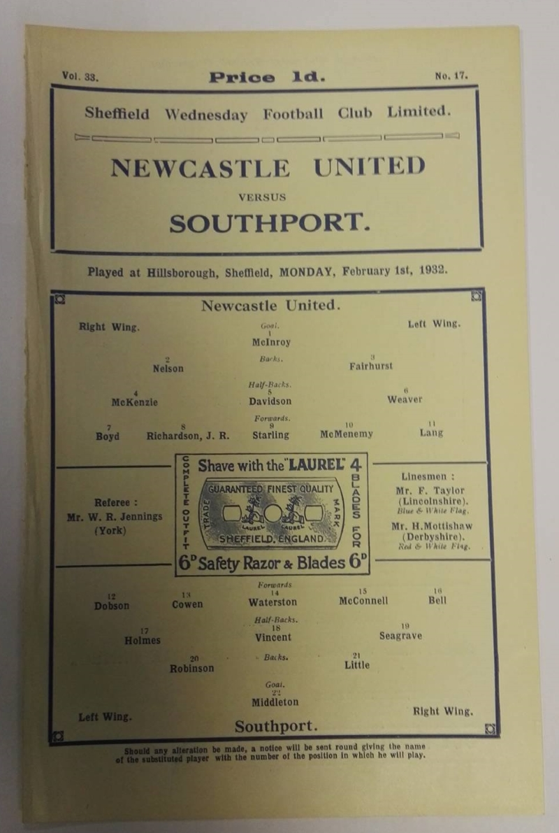 Newcastle United programme collector