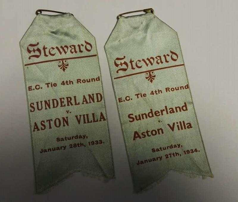 Aston Villa Stewards Badges 1930s 2